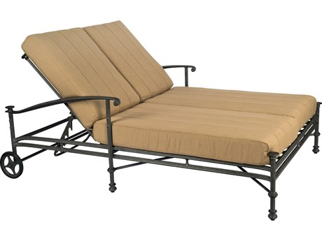 Woodard Nova Cast Aluminum Cushion Double Chaise