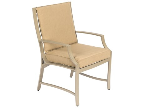 Woodard Seal Cove Aluminum Dining Chair with Optional back cushion