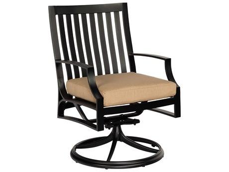 Woodard Seal Cove Aluminum Swivel Dining Chair