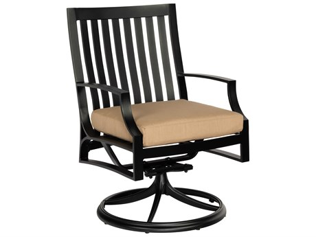 Woodard Seal Cove Aluminum Swivel Dining Chair