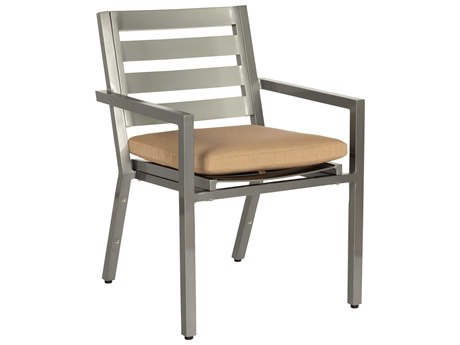 Woodard Palm Coast Slat Aluminum Dining Chair