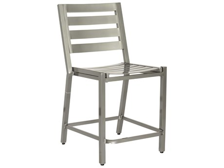 Woodard Palm Coast Slat Aluminum Counter Stool