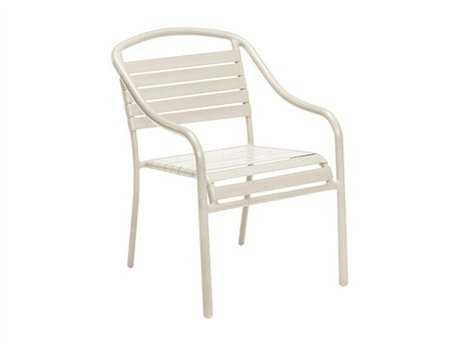 Woodard Baja Aluminum Sandstone Stackable Chair