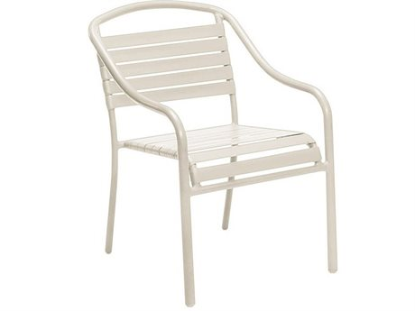 Woodard Quick Ship Baja Aluminum White Strap Chair