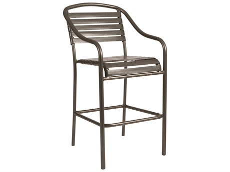 Woodard Baja Strap Aluminum Bar Stool