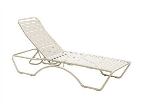 Woodard Baja Aluminum Sandstone Stackable Chaise Lounge