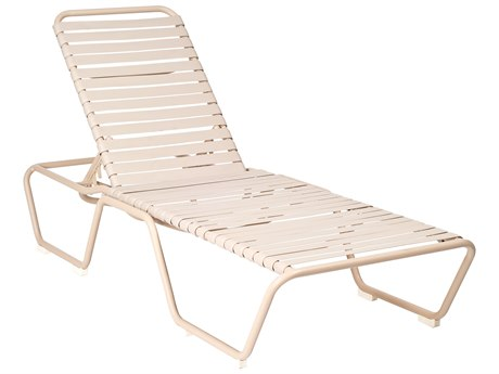 Woodard Quick Ship Baja Aluminum Sandstone Chaise Lounge