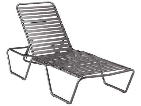 Woodard Baja Strap Aluminum Stackable Chaise Lounge