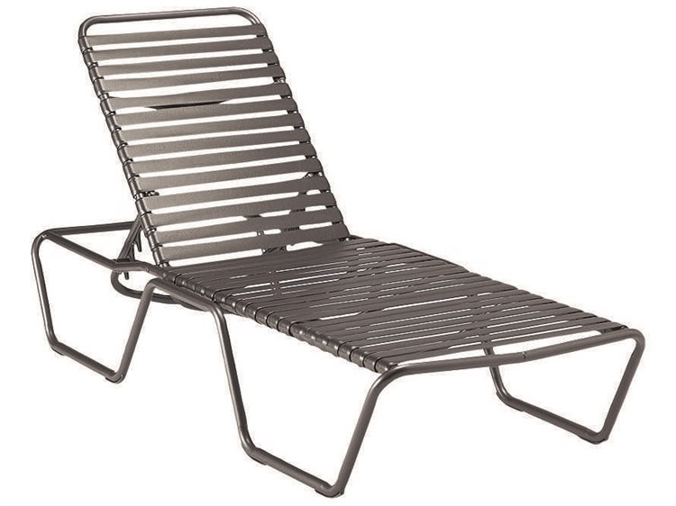 Woodard Baja Strap Aluminum Chaise Lounge PatioLiving