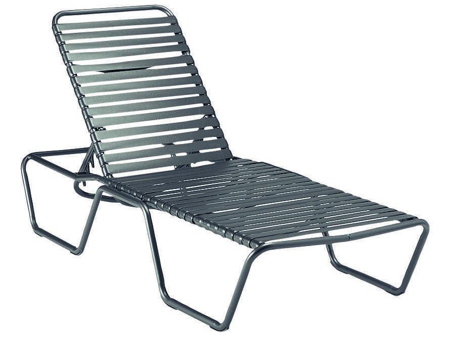 Woodard baja strap aluminum stackable chaise lounge 23m470 for Chaise lounge aluminum