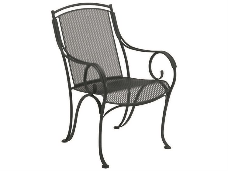 Woodard Modesto Wrought Iron Dining Chair PatioLiving