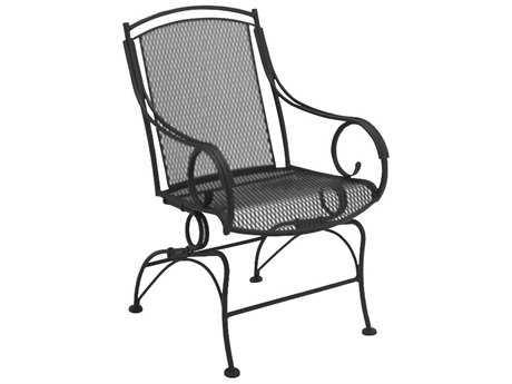 Woodard Modesto Wrought Iron Coil Spring Dining Chair