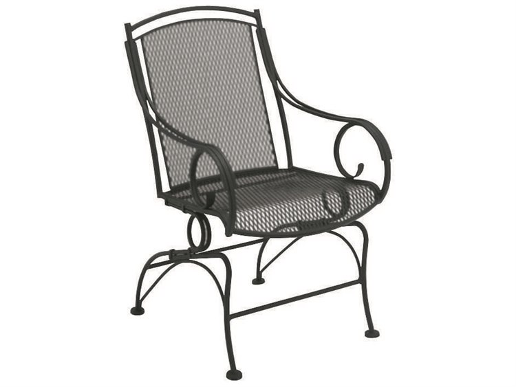 Woodard Modesto Wrought Iron Coil Spring Dining Chair PatioLiving