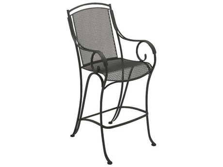 Woodard Modesto Wrought Iron Bar Stool