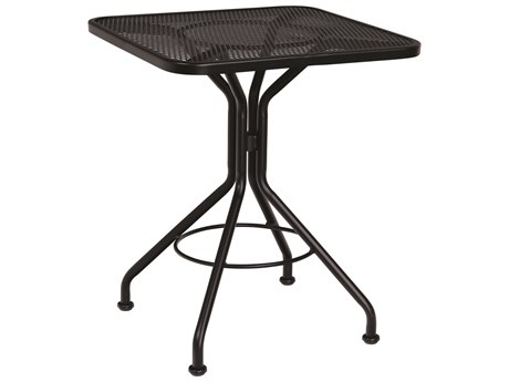 Woodard Wrought Iron Mesh 24''Wide Square Bistro Table