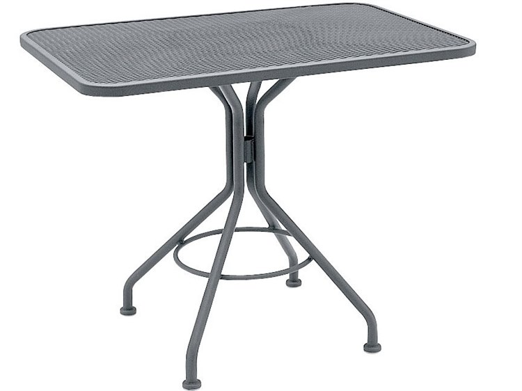 Woodard Wrought Iron Mesh 30''Wide Square Bistro Table PatioLiving
