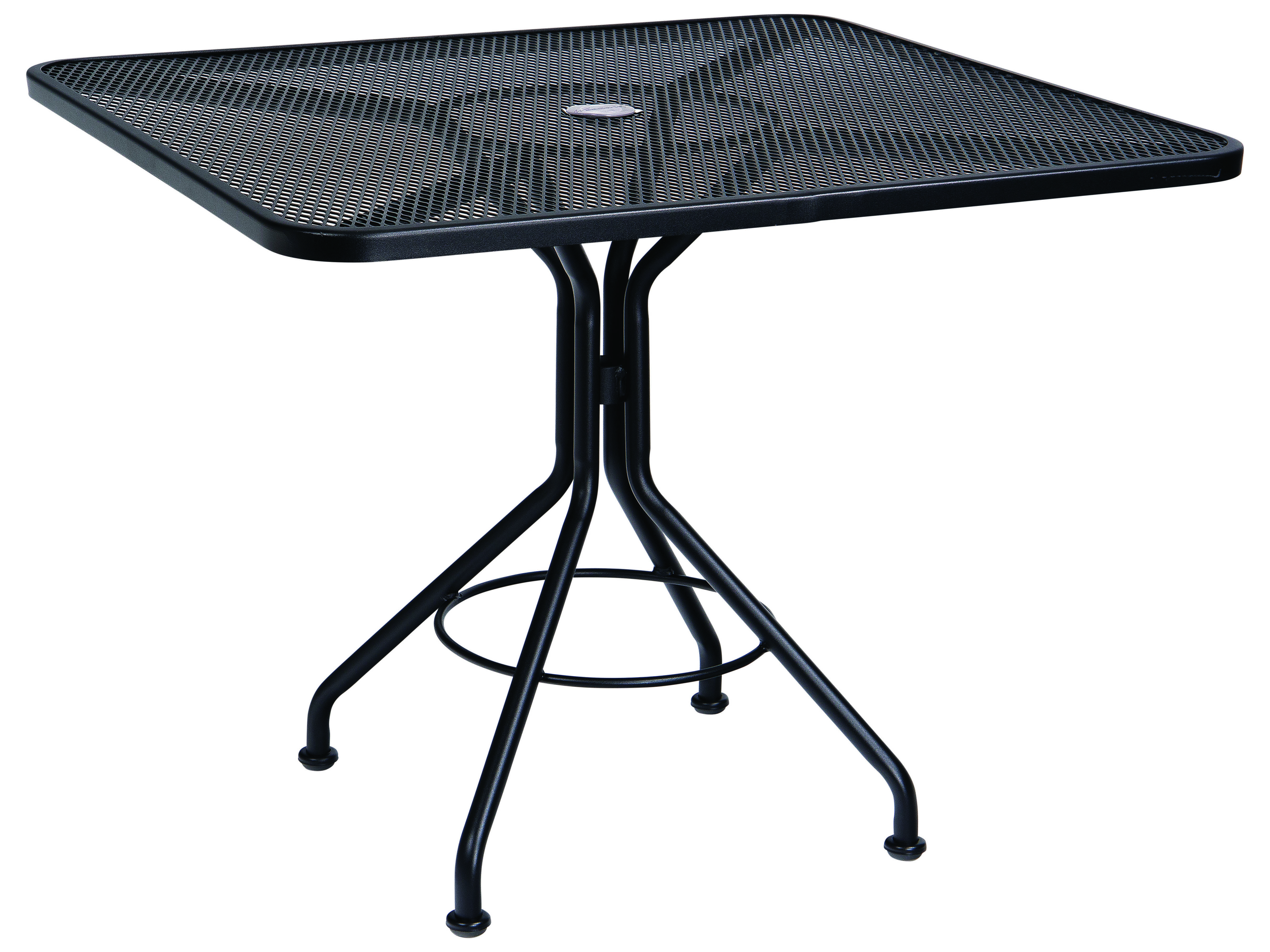 Woodard Mesh Wrought Iron 36 Square Bistro Table With