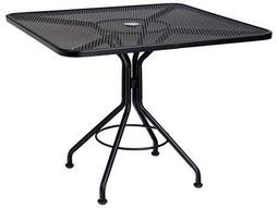 Mesh Wrought Iron 36 Square Bistro Table with Umbrella Hole