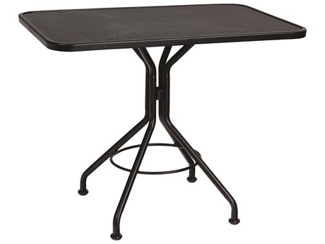 Woodard Wrought Iron Mesh 36''W x 24''D Rectangular Dining Table