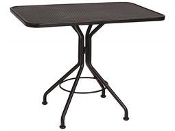 Mesh Wrought Iron 36 x 24 Rectangular Dining Table