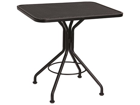 Woodard Wrought Iron Mesh 30''W x 24''D Rectangular Bistro Table