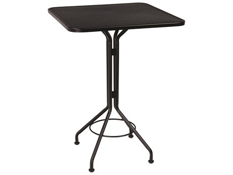 Wrought Iron Mesh 30'' Wide Square Bar Height Table