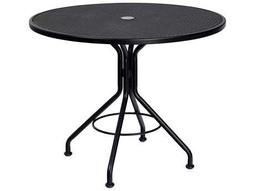 Mesh Wrought Iron 36 Round Bistro Table with Umbrella Hole