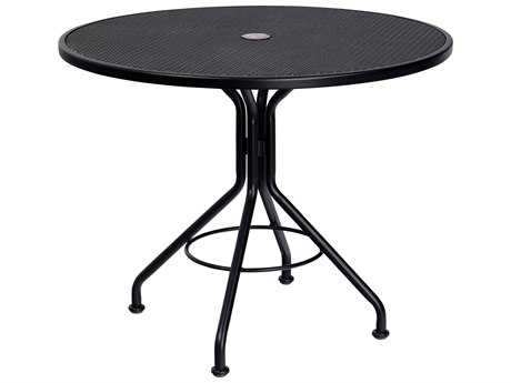 Woodard Wrought Iron 42 Round Table with Umbrella Hole