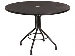 Wrought Iron 42 Round Table with Umbrella Hole