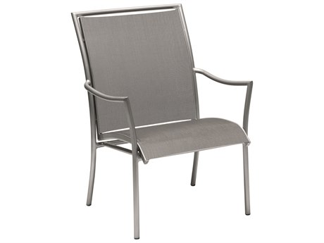 Woodard Dominica Sling Aluminum Stackable Dining Arm Chair