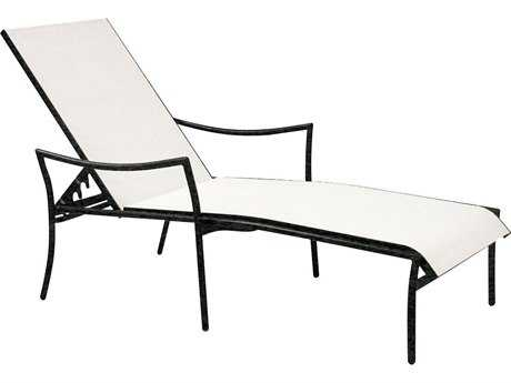 Woodard Dominica Sling Aluminum Stackable Chaise Lounge