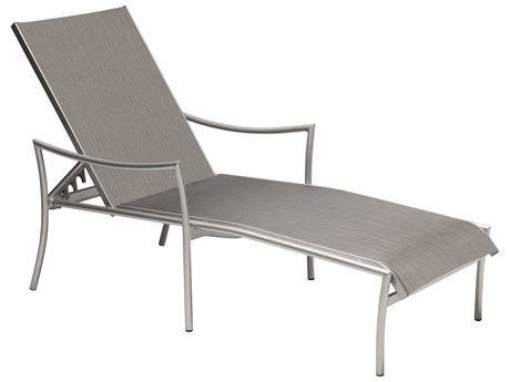 Woodard Dominica Sling Aluminum Stackable Adjustable Chaise Lounge