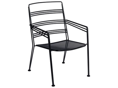 Woodard Madison Wrought Iron Dining Arm Chair Stackable