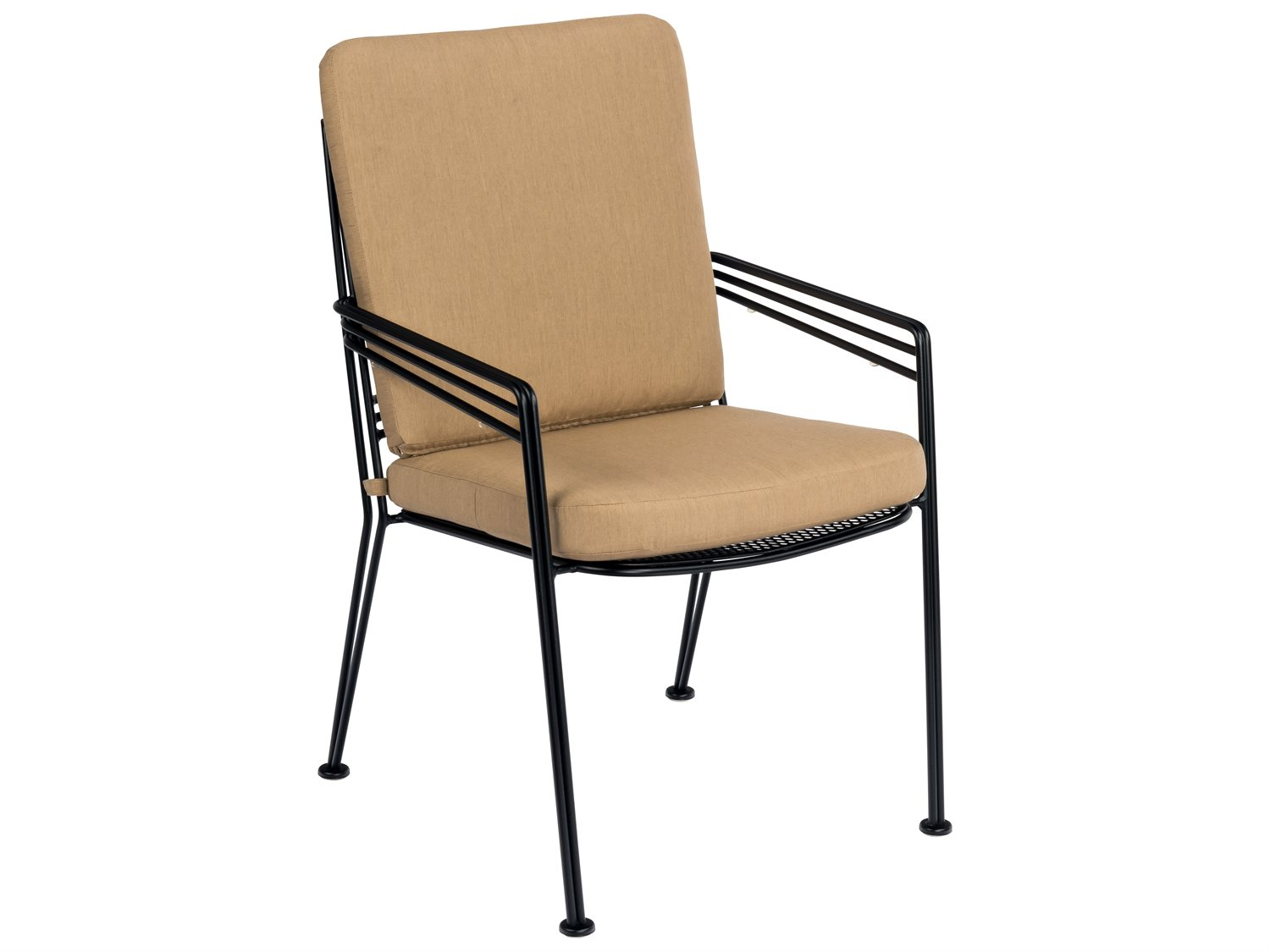 Woodard Madison Wrought Iron Dining Chair with Optional ...
