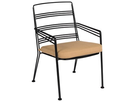 Woodard Madison Wrought Iron Dining Chair with Optional Seat Cushion