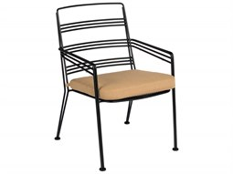 Madison Wrought Iron Dining Chair with Optional Seat Cushion