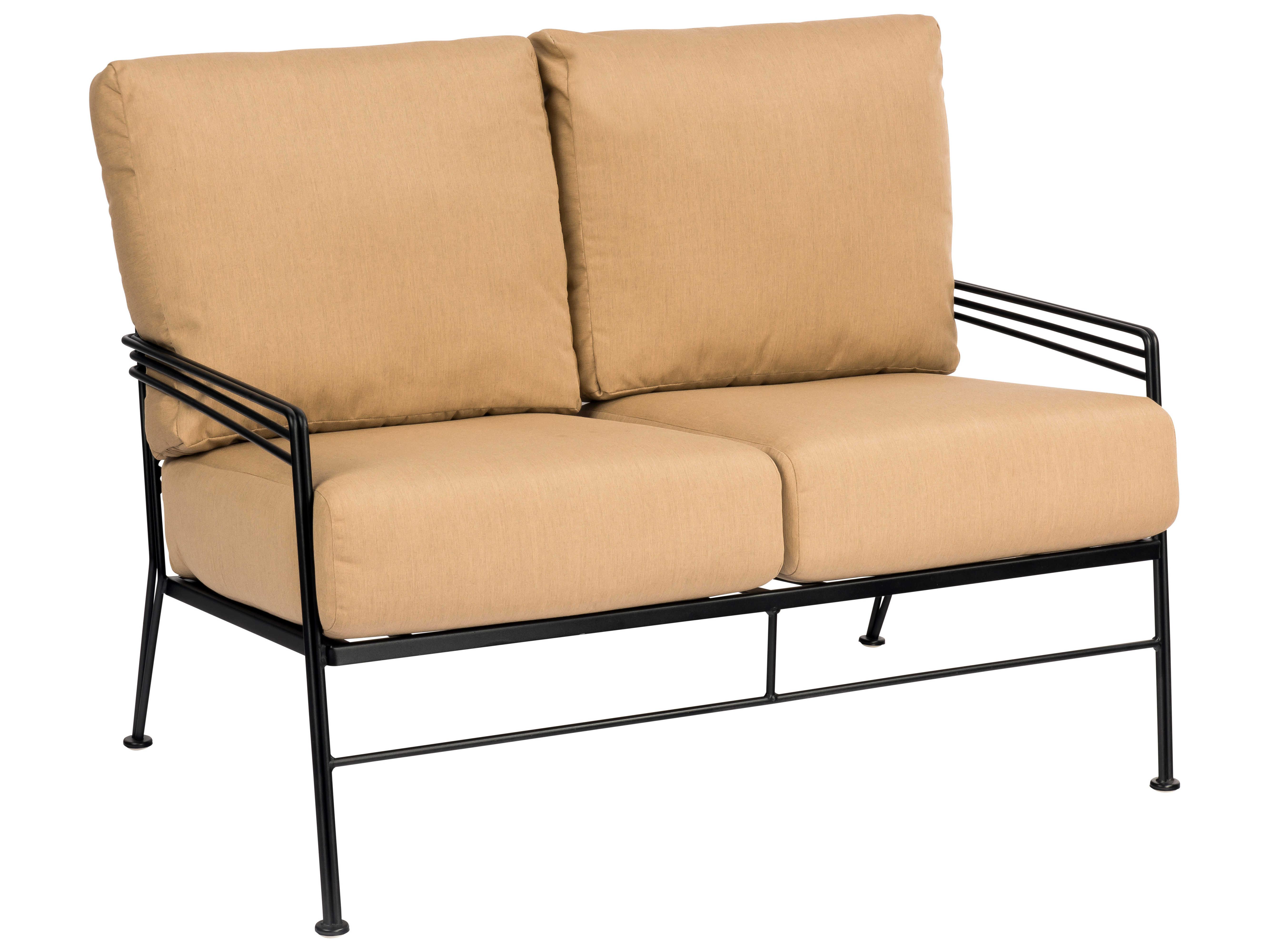 Woodard Madison Wrought Iron Cushion Loveseat 2d0019