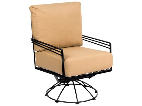 Woodard Madison Wrought Iron Cushion Swivel Rocking Lounge Chair