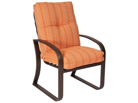 Woodard Cayman Isle Cushion Aluminum Dining Arm Chair