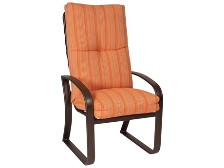 Woodard Cayman Isle Cushion Aluminum High Back Dining Arm Chair