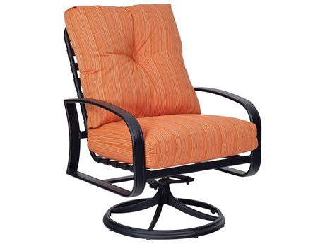 Woodard Cayman Isle Cushion Aluminum Swivel Rocker Lounge Chair