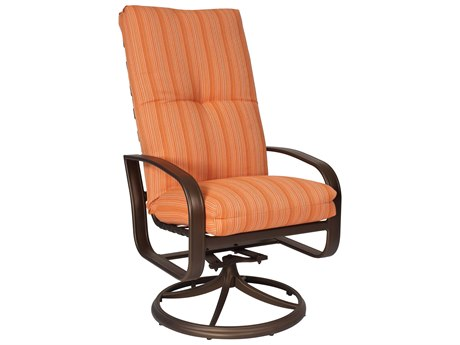 Woodard Cayman Isle Cushion Aluminum High Back Swivel Rocker