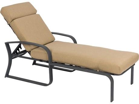 Woodard Cayman Isle Cushion Aluminum Adjustable Chaise Lounge