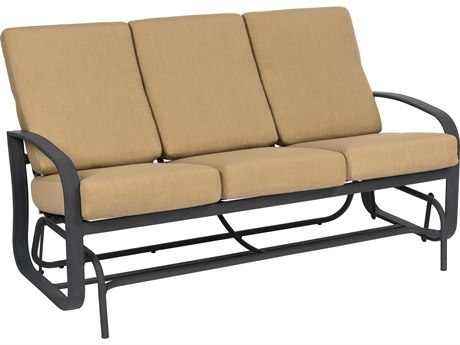 Woodard Cayman Isle Cushion Aluminum Sofa Glider