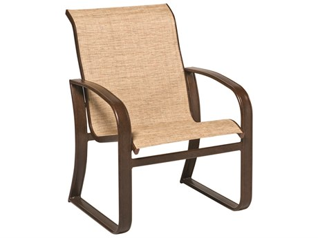 Woodard Cayman Isle Sling Aluminum Dining Arm Chair