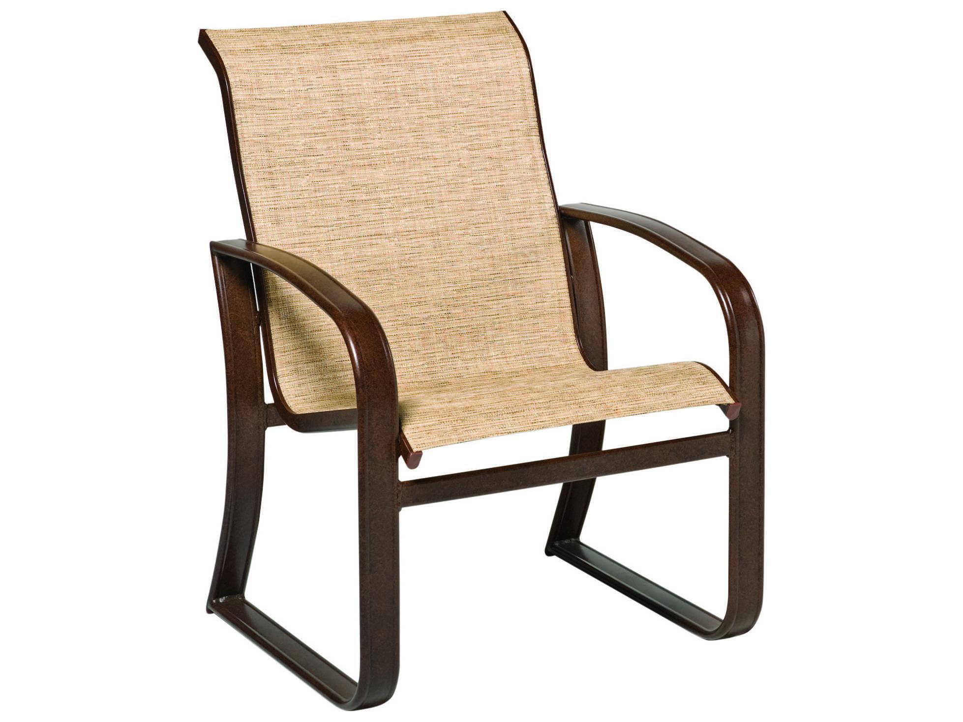Woodard Cayman Isle Sling Aluminum Dining Arm Chair Wr2fh401