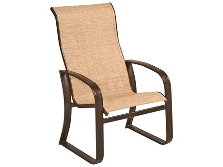 Woodard Cayman Isle Sling Aluminum High Back Dining Arm Chair