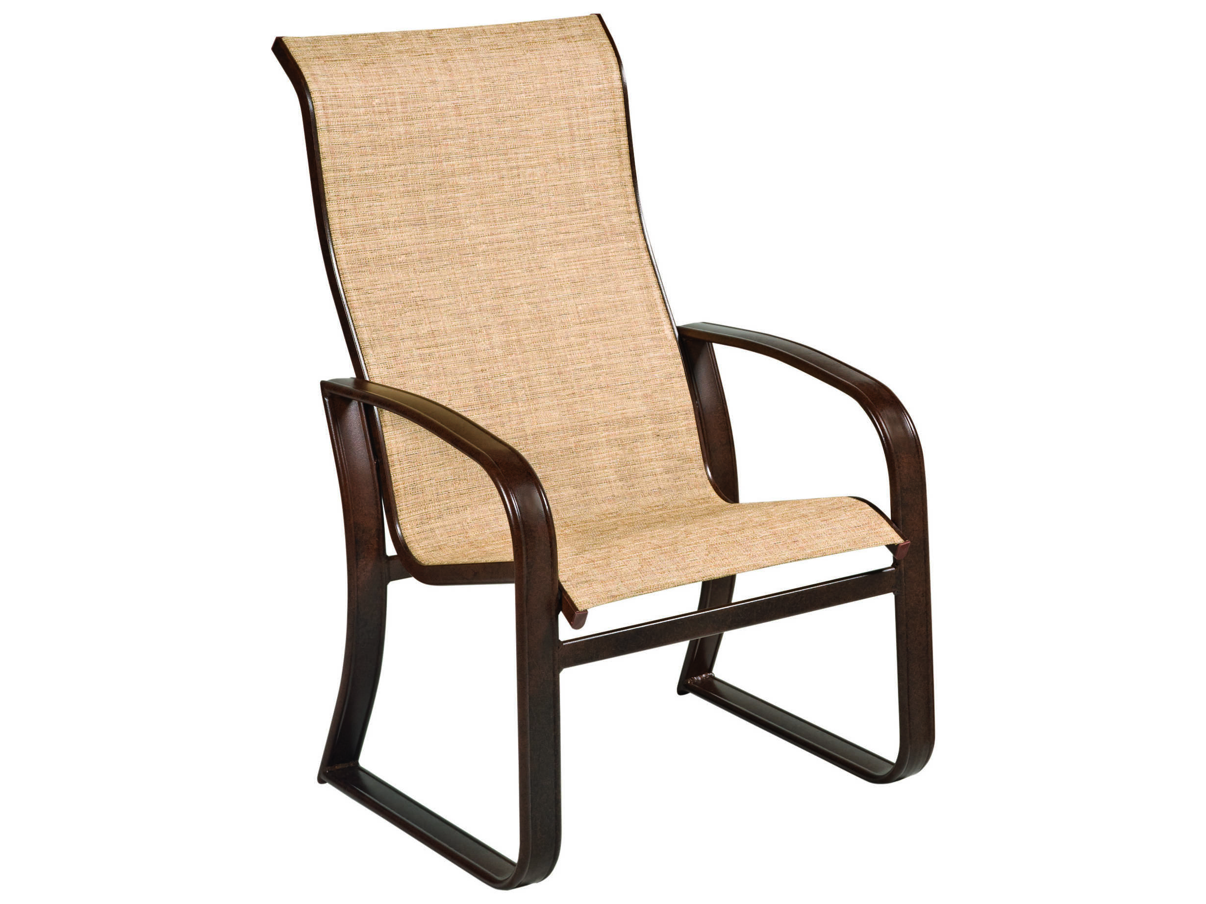 Woodard Cayman Isle Sling Aluminum High Back Dining Arm Chair Wr2fh426