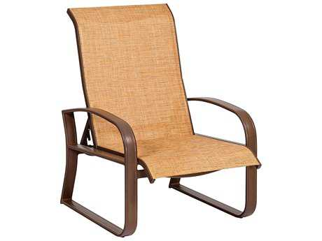 Woodard Cayman Isle Sling Aluminum Adjustable Lounge Chair