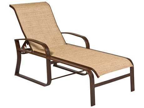 Woodard Cayman Isle Sling Aluminum Adjustable Chaise Lounge